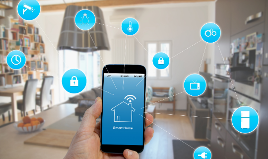 A smartphone showing apps that can make a smart home