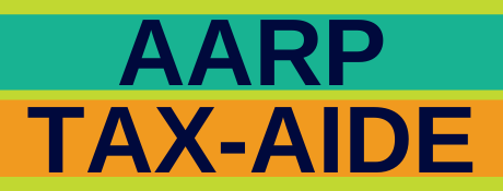AARP Tax-Aide green and orange banner