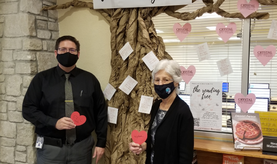 Library Director Eric Head and his mother, retired librarian Wylene Head.