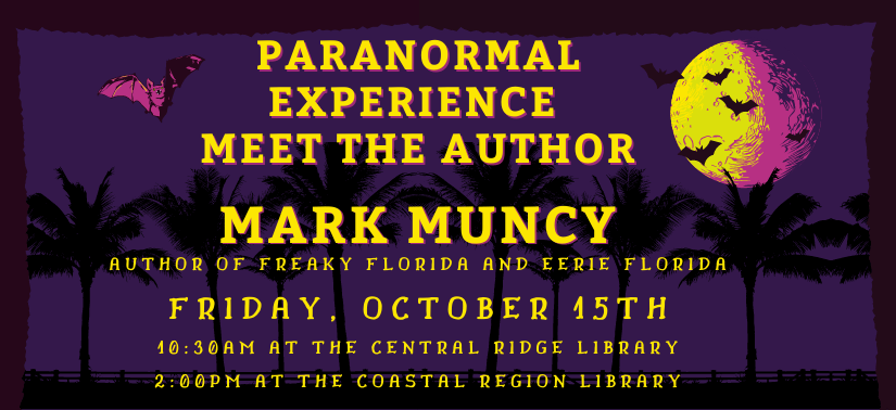 Meet the Author: Mark Muncy at the Central Ridge Branch, Oct 15 at 10:30am