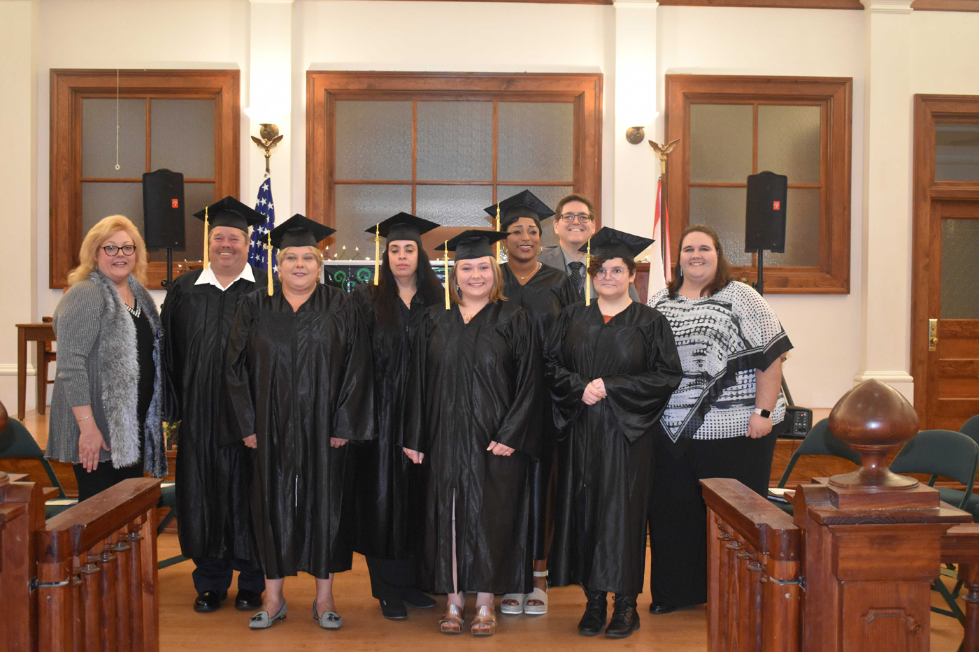 Group of graduates and Library staff of the COHS Literacy Program