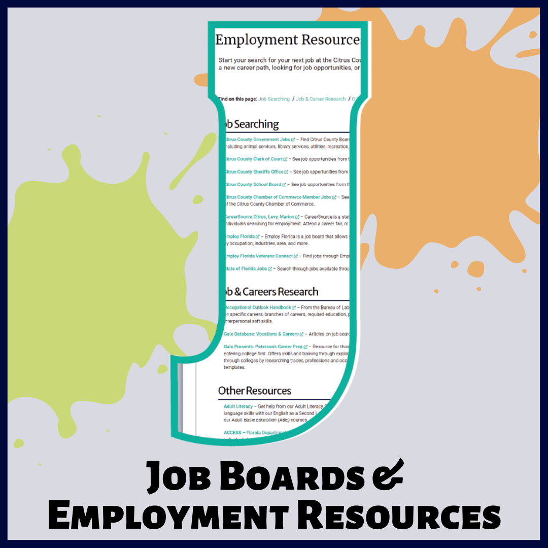 J is for Job Boards and Employment Resources