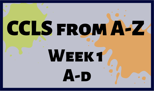 CCLS From A-Z Week 1 Letters A-D