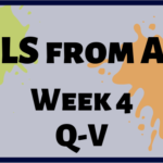 CCLS From A-Z: Week 4 Q-V