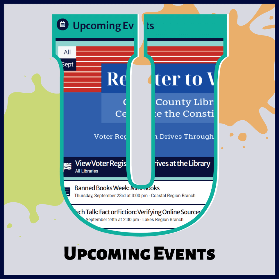 U is for Upcoming Events